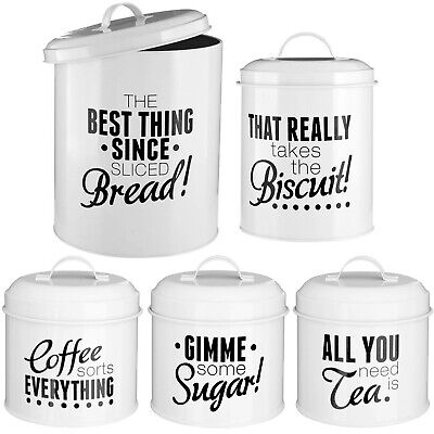 5pcs Tea Sugar Coffee Biscuits Bread Bin Ceramic Storage
