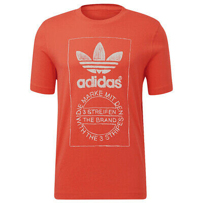 Vêtement T-Shirts adidas homme Hand Drawn Tee taille Rouge Coton