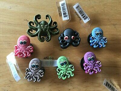 Octopus Green Pink Purple Black Authentic Jibbitz Shoe Charm Fit Crocs