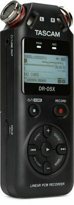 Tascam DR-05X Kassettenrecorder Tragbar Digital Stereo mit Microphone Panorama