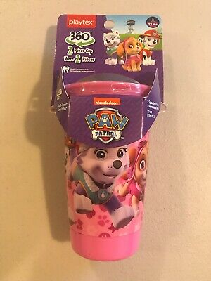 Paw Patrol 360 Spoutless Sippy Cup 2 Piece Cup 10 Oz BPA Free Fast Free Shipping