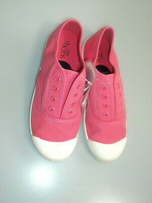 M&S Kids Children Girls Pink Trainers 2/3 Lace Up  UK New £7.00