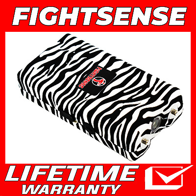 Mini Rechargeable Stun Gun 10 Mil Volts With Led Light Extremely Powerful Zebra