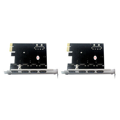 2x 4-Port PCI-E to USB 3.0 PCI Express Expansion Card Adapter 5.0 Gbps