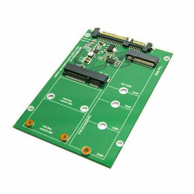 "Cablecc Combo Mini M.2 NGFF & mSATA SSD to SATA 3.0 Adapter for 2.5"" HDD"