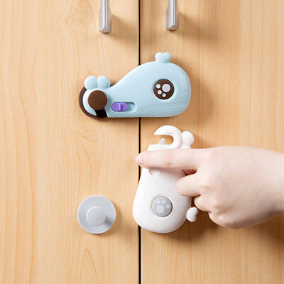 Cute Whale Shape Baby Safety Cabinet DoorLock  Baby Kids Safe Care Protector