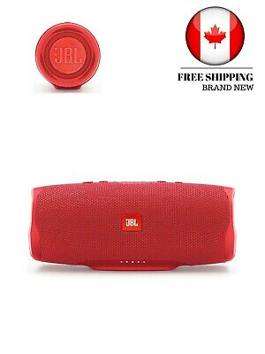 JBL Charge 4 Portable Waterproof Wireless Bluetooth Speaker, Red