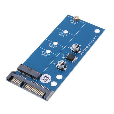 Blue M.2 (NGFF) or mSATA SSD to SATA III Board Adapter Card 100x42mm, New