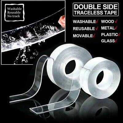 Double-sided Nano Magic Tape Transparent Reusable Traceless Gel Fixed Invisible