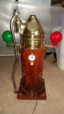 Ship's Original/Refurbished Wooden + Brass Binnacle Compass Stand