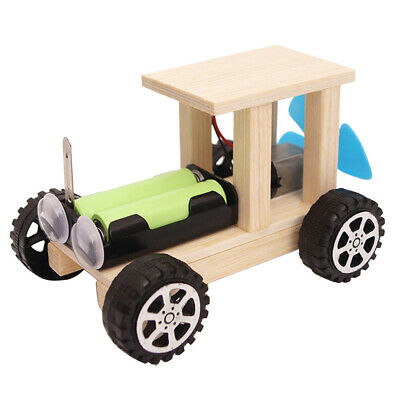 Mini Wind Powered Toy DIY Car Assemble Kit Children Educational Science Toy