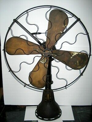"""Prototype-  Early Large 32"""" Tall Table Top """"Lake Breeze Hot Air Alcohol Fan"""""""