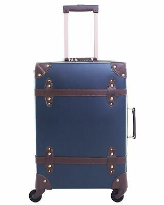Vintage Luggage Carryon Suitcase Travel - HoJax Classic Trolley Luggage with ...