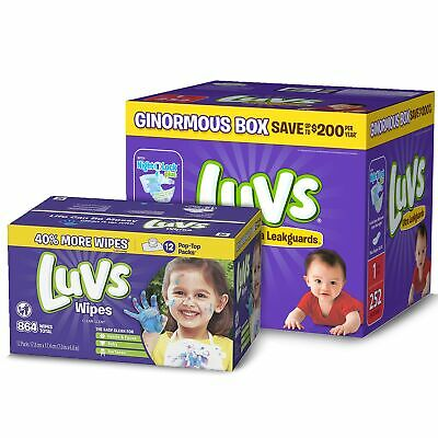 Diapers Size 1, 252 Count - Luvs Ultra Leakguards Disposable Diapers, ONE MON...