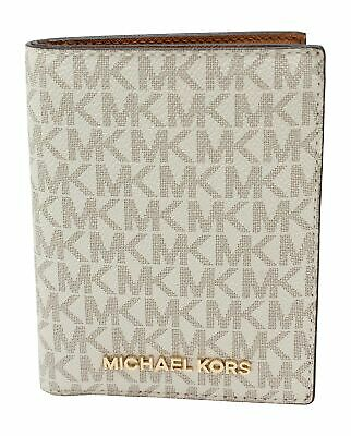 Michael Kors Jet Set Travel Passport Holder Wallet Case Vanilla PVC 2019