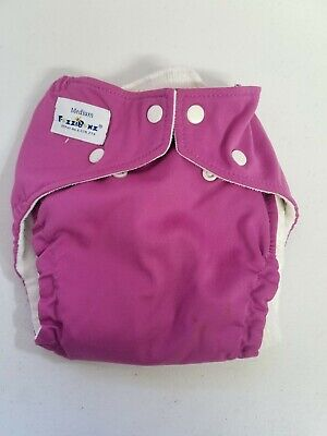 LOT of 4 Fuzzibunz med, 1 Katydid cloth diapers, wet bag and 4 colorful liners