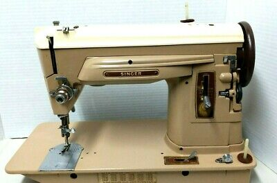 Singer 404 Sewing Machine Slant Needle Straight Stitch Gear Drive Leather Denim