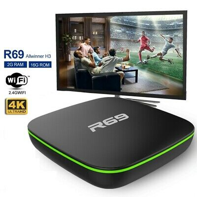 R69 Smart Android 7.1 TV Box 1080P WiFi HDMI Quad Core Support 3D Media Player
