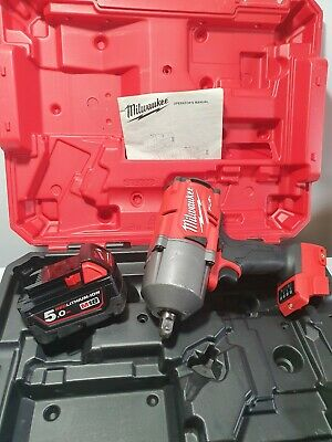Milwaukee 18v Impact Wrench Fuel M18FHIP12 + 5Ah + Hard Case - FREE POST