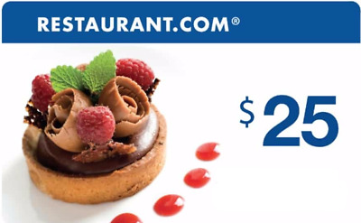 ONE $25 Restaurant.com eGift Cards | INSTANT DELIVERY