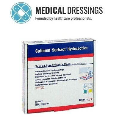 Cutimed Sorbact Hydroactive Dressings | All Sizes | Ulcers, Wounds, Postop