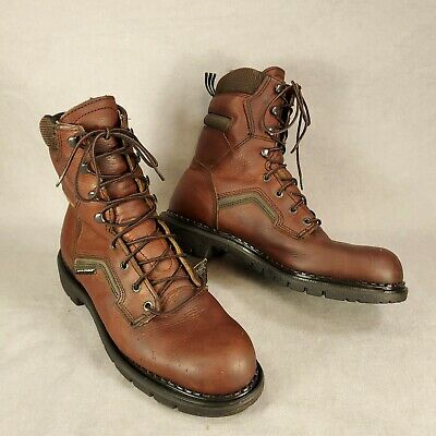 Red Wing MENS Brown Leather Work Boots Electrical Hazard 938 Brown Size 10 B