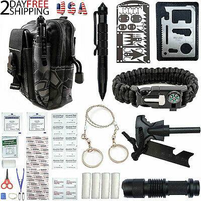 65 In 1 Outdoor Camping Survival Gear Kit Hiking Emergency Tactical EDC Bag Kits
