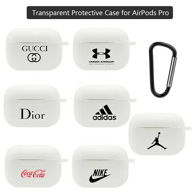 For Apple AirPods Pro 3 Case Cover Silicone Skin Slim Holder Nike With Hook