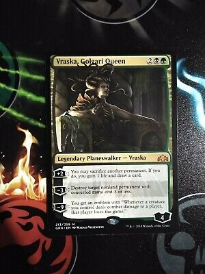 1x Vraska Golgari Queen Emblem *FOIL LAMINATED* Custom Altered MTG G.of Ravnica
