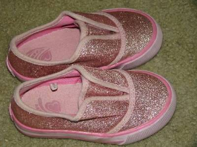 The Children's Place Baby Toddler Girls sparkly slip -on shoes Sz 7