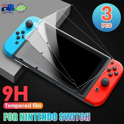 3x Nintendo Switch 9H Silm Tempered Glass Screen Protector Cover Nintendo Switch
