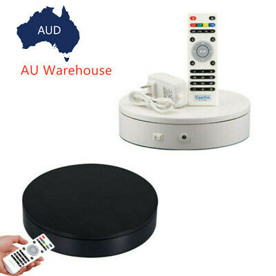 20cm Electric Turntable Photography Rotary Table Remote Control Display Stand AU