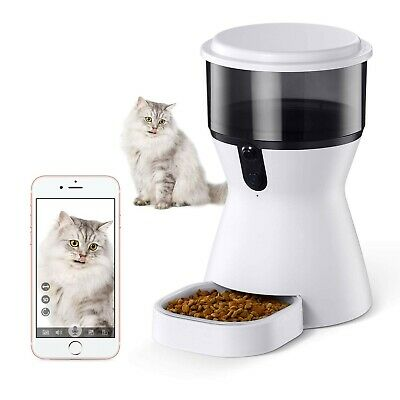isYoung 4L Smart Pet Feeder, Automatic Wi-Fi Pet Feeder with HD Camera for Vi...