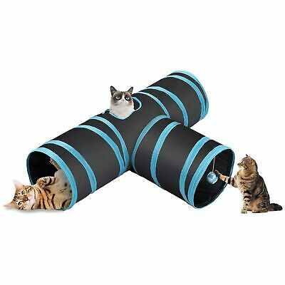 CO-Z Collapsible Cat Tunnel Tube Kitty Tunnel Bored Cat Pet Toys Peek Hole To...