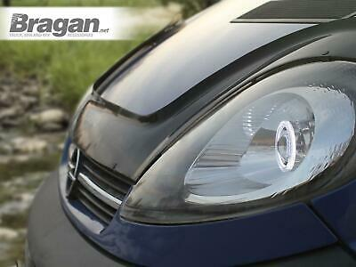 To Fit 02 - 14 Vauxhall Opel Vivaro Smoked Acrylic Bonnet Guard Protector Shield