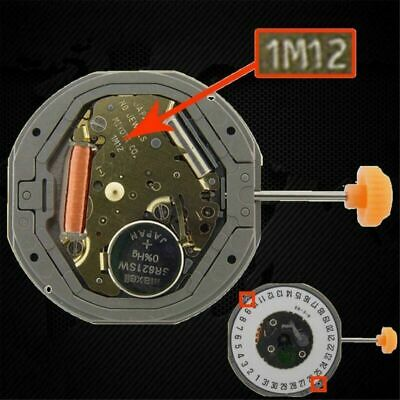 QUARTZ Watch Movement Date at 3/6' REPLACE 6M12 MS For MIYOTA 1M12 LTD
