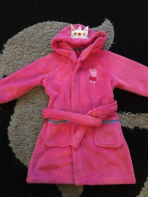 Girls M&S Peppa Pig Dressing Gown Age 3-4 Yrs