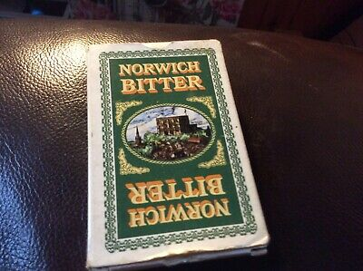 VINTAGE NORWICH BITTER PLAYING CARDS1980's?in VG USED COND