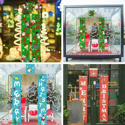 3PCS 1Set Couplet Fabric Door Hanging Ornaments New Christmas Party Year J4M8