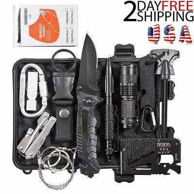 13 In 1 Outdoor Survival Gear Kit Camping Tactical SOS EDC Emergency Tools Kits