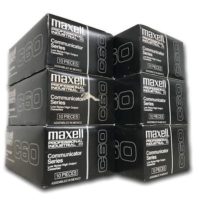 Lot 60 Tapes - New MAXELL C60 High Output Communicator Series Cassette Tapes