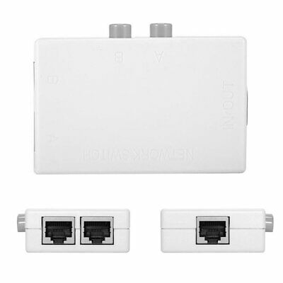 UTP STP 2 in 1 out 2 Ports RJ45 adapter LAN CAT Network Switch Selector Internal