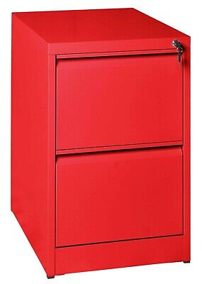 2 Drawer Steel Filing Cabinet Anti Tilt Lockable Fully Assembled Stock Clearance