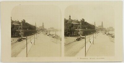 Germany Dresden La Route, Photo Stereo Vintage Analogue