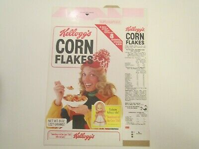 Empty KELLOGG'S Cereal Box 1979 CORN FLAKES Sweetheart of Corn Doll offer [P6f5]