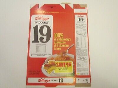 Empty KELLOGG'S Cereal Box 1983 PRODUCT 19 offer [P6f11]