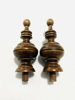 Antique  Clock Parts Solid Wood Finials