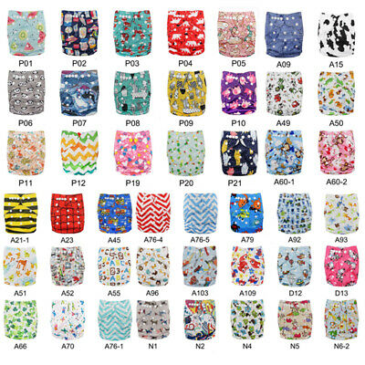 Baby Cloth Diapers Lot One Size Reusable Washable Pocket Nappies + Insert