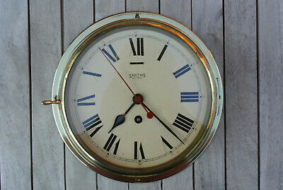Genuine Smiths Astral Vintage Brass Ships Clock 8 Inch Dial - Full Working Order