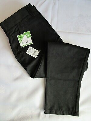 Boys School Trousers By Next Size 9+ Years, Colour Black Chino's